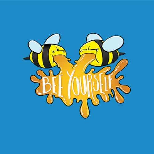 Two Bees Vomiting Honey